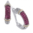 Alesandro Menegati 18K Accented Sterling Silver Earrings with Rubies