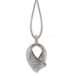 Alesandro Menegati 18K Accented Sterling Silver Necklace with Black Diamonds
