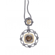 Alesandro Menegati 14K Accented Sterling Silver Necklace with Smoky Quartz and Diamonds