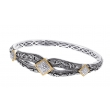 Alesandro Menegati 18K Accented Sterling Silver Bangle with Diamonds