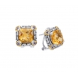 Alesandro Menegati 14K Accented Sterling Silver Earrings with Citrine and Iolites