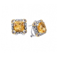 Picture of Alesandro Menegati 14K Accented Sterling Silver Earrings with Citrine and Iolites