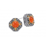Picture of Alesandro Menegati 14K Accented Sterling Silver Earrings with Carnelian