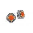 Alesandro Menegati 14K Accented Sterling Silver Earrings with Carnelian