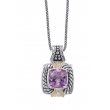 Alesandro Menegati 14K Accented Sterling Silver Necklace with White Topaz and Amethyst