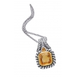 Alesandro Menegati 14K Accented Sterling Silver Necklace with Citrines
