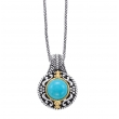Alesandro Menegati 14K Accented Sterling Silver Necklace with Turquoise