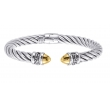 Alesandro Menegati 14K Gold & Sterling Silver Bangle
