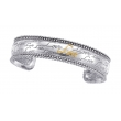 "Alesandro Menegati 14K Gold & Sterling Silver ""Love"" Bangle"