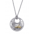 "Alesandro Menegati 14K Gold & Sterling Silver ""Love"" Necklace"