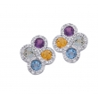 Alesandro Menegati Sterling Silver Earrings with Gemstones