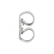 14K White Gold Push On-thread Off Earring Back