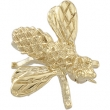 14K Yellow Gold Bee Brooch