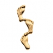 14K Yellow Gold Footprints In The Sand Lapel Pin