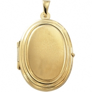 Picture of 14K Yellow Gold Oval Shaped Locket