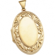 Picture of 14K Yellow 32.00X22.00 MM Large Oval Locket