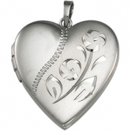 Picture of Sterling Silver Heart Shaped Locket