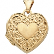 Picture of 14K Yellow 15.00X15.50 MM Heart Shaped Locket