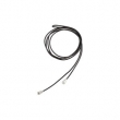 Sterling Silver 40.00 Inch Kera Black Leather Cord Lariat Necklace