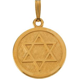14k yellow gold star of david pendant aloadofball Image collections