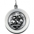 Sterling Silver 18.75 Rd Baptism Pend Medal With 18 Inch Chain