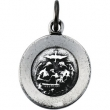 Sterling Silver 11.75 Rd Baptism Pend Medal With 18 Inch Chain