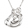 Sterling Silver Child Family Embrace Necklace With Packaging