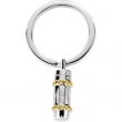 Sterling Silver 61.75 X Cylinder Ash Holder Key Chain With Packaging