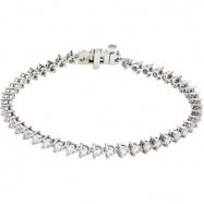 Picture of 14K White Gold 7 1 4 Inch Diamond Line Bracelet