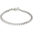 14K White Gold 7 1 4 Inch Diamond Line Bracelet