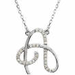 Sterling Silver A Diamond Necklace