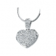 Sterling Silver Cubic Zirconia Heart Locket Necklace