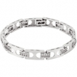 14K White Gold Gents Diamond Bracelet
