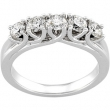 14K White Gold Bridal Anniversary Band  Diamond quality A4 (SI1 clarity G-I color)
