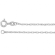 18kt White BULK BY INCH Polished ROPE CHAIN