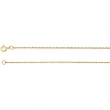 14kt Rose 16.00 INCH Polished ROPE CHAIN