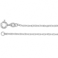 Picture of 10kt White BULK BY INCH Polished ROPE CHAIN