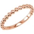 14kt Rose Stackable Ring