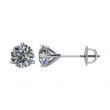 14kt White Complete with Stone Diamond 1/5 CTW 03.55-03.80 MM SI2-SI3 G-H Threaded Pair Polished 1/5 CTW DIAMOND EARRINGS