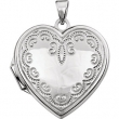 14kt White Heart Shaped Locket