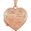 RGPSTER 19.25X18.00 mm Polished Heart Shaped Locket