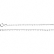 Picture of 14kt Rose BULK BY INCH Polished SOLID CABLE CHAIN