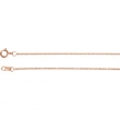 14kt Rose 20.00 INCH Polished SOLID CABLE CHAIN