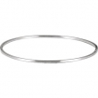 Sterling Silver 04.75 mm 07.00 Inch Bangle Bracelet