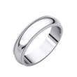 14kt X1 White 05.00 mm Comfort Fit Milgrain Band