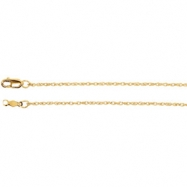 Picture of 14kt Rose 20 INCH Polished LASERED TITAN ROPE CHAIN