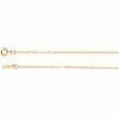 14kt White 18 INCH Polished LASERED TITAN GOLD CABLE CHAIN