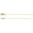 14kt White 24 INCH Polished LASERED TITAN GOLD CURB CHAIN