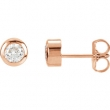 14kt Rose 1/2 Pair 1/2CTW Diamond Solitaire Earring