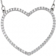 14kt Rose Diamond 18.75X21.15 mm 1/3 CTW Diamond Heart Necklace